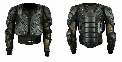 New Motocross Motorbike Body Armour Motorcycle Protection Guard Jacket Black CE