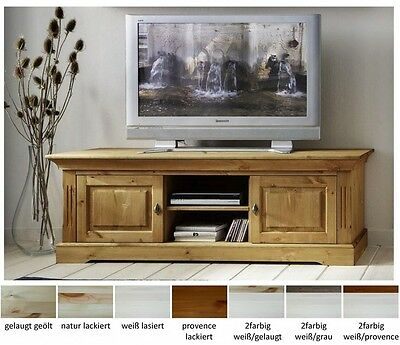 tv lowboard kommode phono board regal holz kiefer massiv. Black Bedroom Furniture Sets. Home Design Ideas