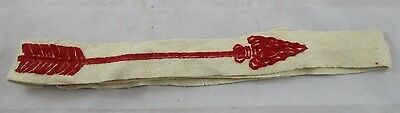 Vintage Boy Scout Order of the Arrow OA Felt Sash / Belt Red Arrow BSA