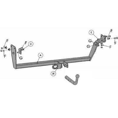7pin Electrics for Kia CEE/'D HATCHBACK 2007-2009 45017//F/_A2 Swan Neck Towbar