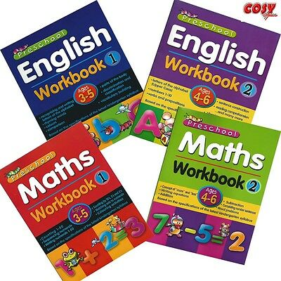 Pre-School Activity Workbook counting & vocabulary English & Maths sets