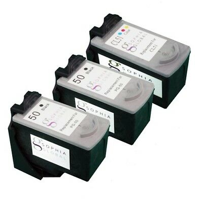 3 PK Ink Cartridge for Canon PG-50 CL-51 PIXMA MP150 MP160 MP180 MP450