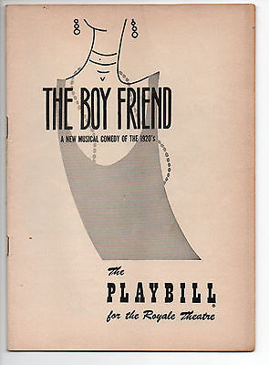 The Boy Friend Royale Theatre Playbill 1955 NYC Julie Andrews Broadway Debut VG