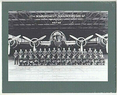 "11th BOMBARDMENT SQUADRON  HICKAM AIR BASE SILVER HALIDE ON 8x10"" MAT"