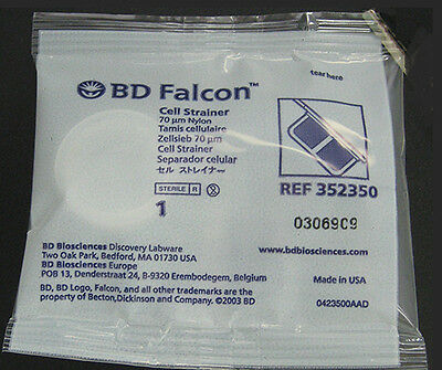 3 Pieces of BD Falcon 70um Nylon Cell Strainers, REF 352350