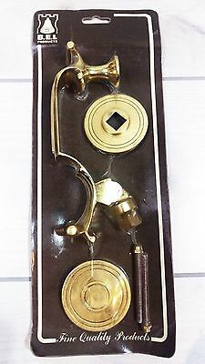 Brass Door Handle Ornate Solid Brass BEL Products Lever 1lb 11oz NEW