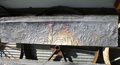 Antique Victorian Ceiling Tin Tile Iridescent Flowers Leaves Chic Pinterest