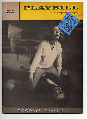 Goodbye Charlie Lyceum Theatre Playbill 1960 NYC Lauren Bacall George Axelrod VG