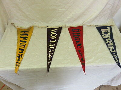 "1940s Canadian Football League Felt Pennants 20"" Toronto Montreal etc FREE SHIP"