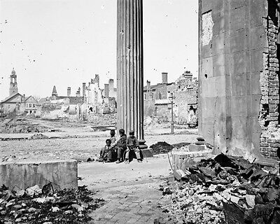 New 11x14 Civil War Photo: Destruction on Meeting Street in Charleston, 1865