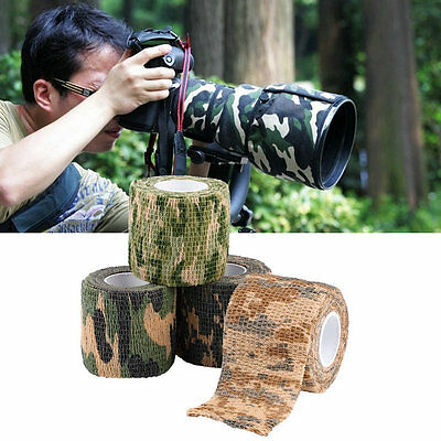 Elastic Camouflage Waterproof Outdoor Hunt Camping Stealth Camo Wrap Tape AU