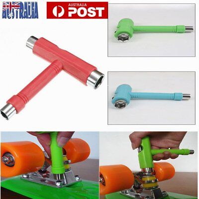 Skateboard Scooter Longboard T-shape Multifunctional Wrench Adjusting Tool AU