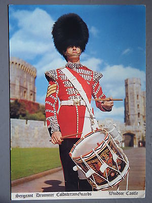 R&L Postcard: Sergeant Drummer Coldstream Guards, Windsor Castle