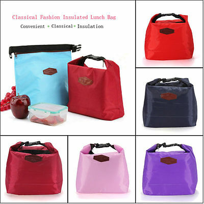 Thermal Insulated Cooler Waterproof Lunch Tote Storage Picnic Pouch Bag AU