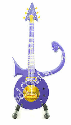 Miniature Guitar PRINCE with stand. Purple Symbol