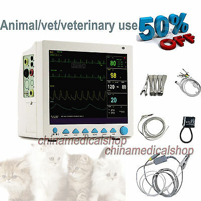 CMS8000VET Veterinary Patient Monitor 6 parameters ECG/NIBP/SPO2/RESP/TEMP/PR