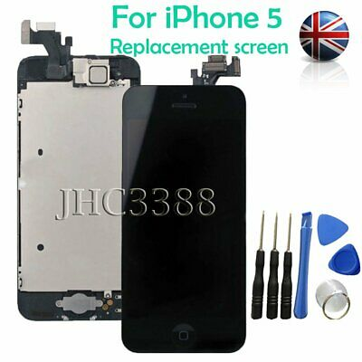 For iPhone Black 5 Full LCD Display Touch Screen Digitizer Assembly Replacement