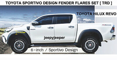 6 Inches Toyota All New Hilux Gun1 Year 2015 2016 Fender Flares Wheel Arches