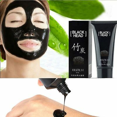 Bamboo Charcoal Black Mud Blackhead Remover Face Mask Deep Cleansing Mask