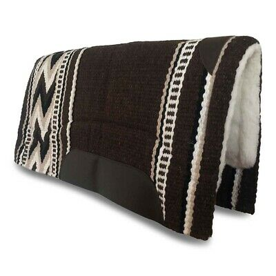 Brown Western/Stock Saddle Show Pad/Blanket NZ WOOL Thick Fleece Padding FREE PP