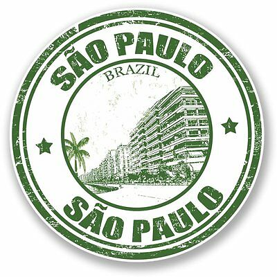 2 x Sao Paulo Brazil Vinyl Stickers Travel Luggage #7968