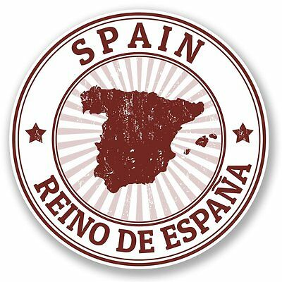 2 x Spain Espana Vinyl Sticker Laptop Travel Luggage #4731