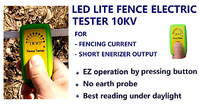 Electric Fence Tester Lite Tester 10Kv Fencing Current & Short Energizer Output