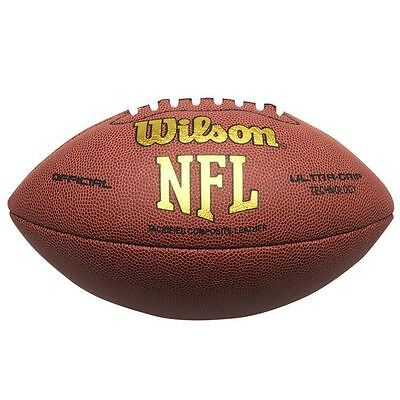 Wilson NFL American Football Ball Tackified Composite Leather Ultra-Grip Game
