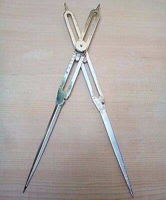 12 Inch Brass Antique Drafting Tool Proportional Divider Scientific Instrument