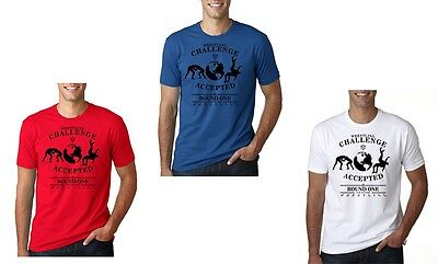 Wrestling UNISEX T-Shirt CHALLENGE ACCEPTED White/Blue/Red ALL Sizes