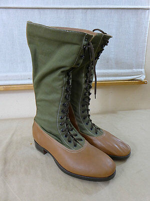 DAK Afrikakorps Stiefel HEER - High Boots tropical / Tropenstiefel Gr. 45 TOP !!