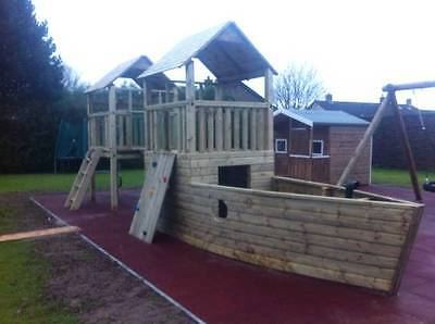 Commercial PIRATES SHIP +5ft TOWER Climbing Frame PUBS RESTAURANT HOTEL