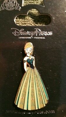 New Disney Parks Princess Cutout Anna From Frozen Coronation Gown Pin On Card