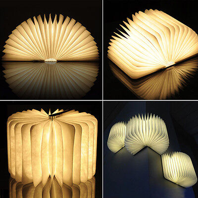 Mini Folding Colorful LED Nightlight Booklight Book Lamp Rechargeable Lamp Gift