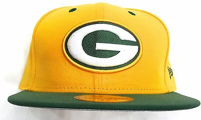 Green Bay Packers New Era 5950 Fitted Cap Hat Grey Brim Undervisor Nfl