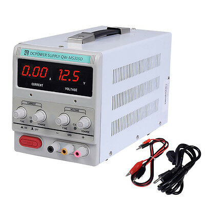 Adjustable DC 0-30V 0-5A Switching Power Supply Precision Variable Digital Lab