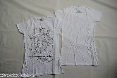 The Beatles Yellow Submarine Drawing White Ladies Skinny T Shirt New Official