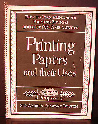 Vintage 1961 Printing Papers and their Uses S.D. Warren Company Boston