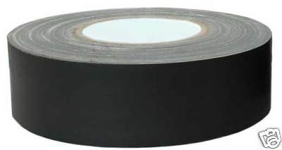 "Hosa Technology GFT-447BK Gaffer's Tape 2"" Wide 60 Yards Roll Gaff Matte Black"