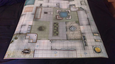 Heroclix - Laminated Map - 2 Sided - Training Complex/institute Grounds