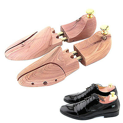 1 Pair Wooden Shoe Tree Stretcher Shaper Keeper with Adjustable Width UK 10-11