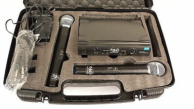 Professional Wireless Dual Microphone System Uhf