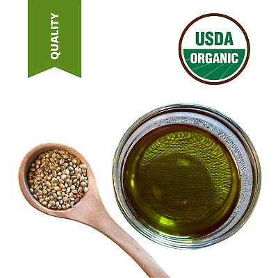 7 Lbs Best Quality Pure Organic Hemp Seed Oil Cold Pressed Unrefined