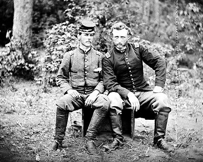 New 11x14 Civil War Photo: Union General George Custer & Captured Friend