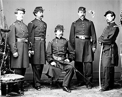 New 11x14 Civil War Photo: Union - Federal General Daniel Sickles & Staff