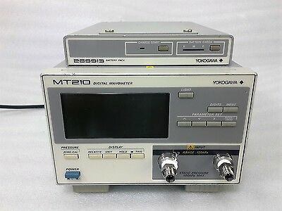 YOKOGAWA MT210 Digital Manometers + 269913 BATTERY PACK