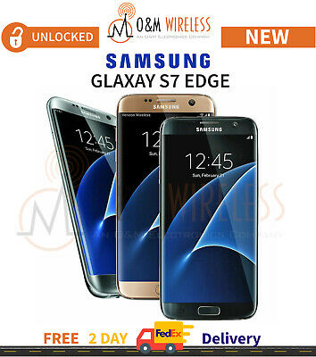 New Samsung Galaxy S7 Edge 32GB Unlocked SM-G935 Black Gold Silver AT&T T-Mobile