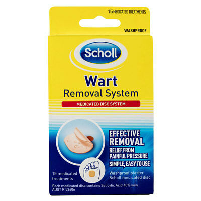 * Scholl Wart Removal System Medicated Disc System 15 Treatments Waterproof
