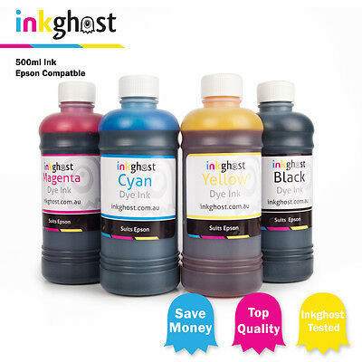 500ml Ink compatible with Epson 3640 7610 7620 3620 252, 252XL, 254XL cartridges