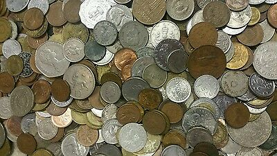 1 lb of Unsearched World Coins Lot - Mixed Foreign Coins FREE SHIPPING!!